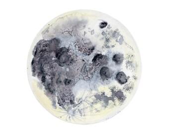 Astronomy Gift - Moon Wall Art - Space Nursery Decor - Full Moon Print - Astronomy Art - Boys Room Decor - Kids Wall Art - Home Decor - Moon