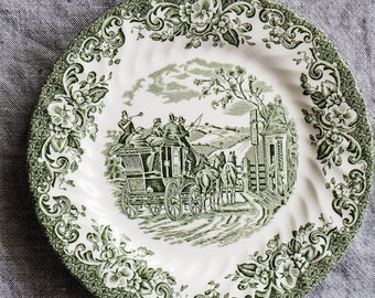 English Plate with green patterns