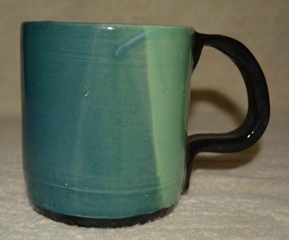 Mug, 24 OZ Coffee Mug, Tea Mug, Cocoa Mug, Cup, Stoneware, Ceramic, Kitchen, Blue, Turquoise, Black,