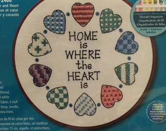 Learn-A-Craft Dimensions 'Home and Heart' Stamped Cross Stitch