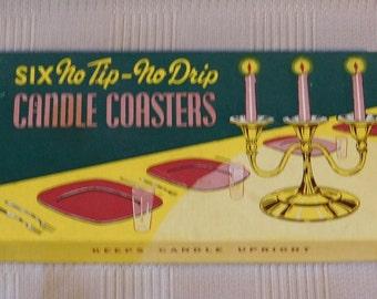 Six No Tip No Drip Candle Coasters