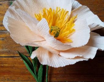 Icelandic Poppy, Crepe Paper Flower,  Wedding bouquet, Centerpiece, Gift, Mothers Day