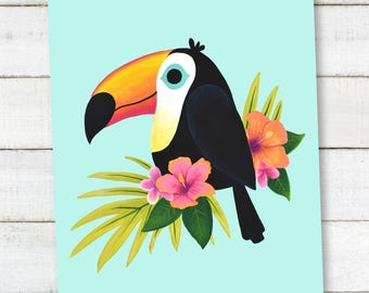 Tropical Toucan PRINTABLE Wall Art