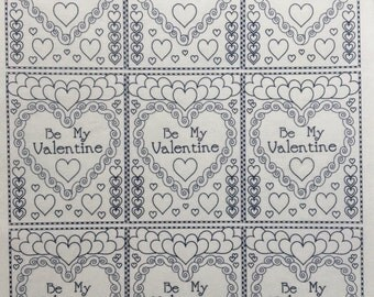 Be Mine Paint Your Own Edible Wafer Paper
