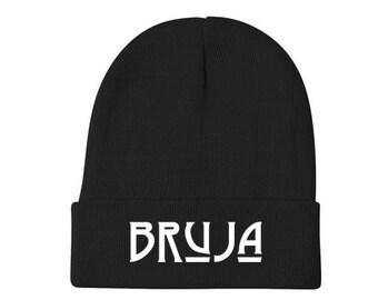 BRUJA clothing, Bruja witch beanie, Black beanie, 90s beanie, punk beanie, witch clothing, witch accessories