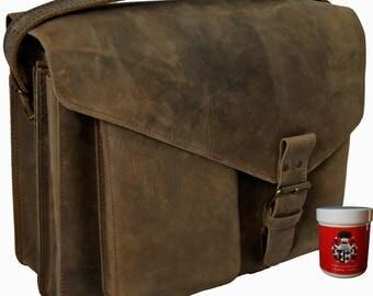 Shoulder bag, messenger bag GANDHI brown genuine leather