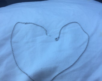 Vintage  Sterling silver 18 inch Double Link Chain Necklace