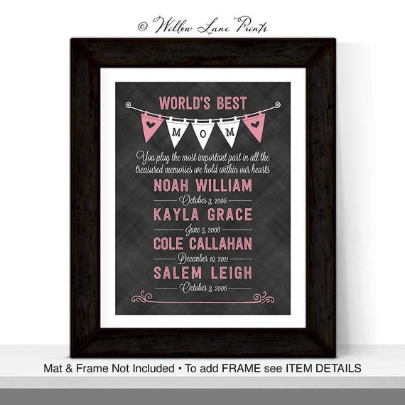 Worlds Best Mom Mothers Day Gift Personalized Birthday For