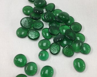 25 Medium Translucent Grasss Green Glass Nuggets, about 9/16 inch or about 19mm,  Victory 2012