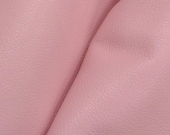 "Charming Pretty Pink ""Signature""  Leather Cow Hide 12"" x 12"" Pre-Cut  2 1/2-3 oz flat grain DE-52158 (Sec. 8,Shelf 3,D)"