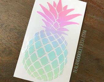 Ombre Gradient Pastel Pineapple Vinyl Decal | Pineapple Sticker | Rainbow Pineapple | Pineapple decal | Yeti Sticker | Colorful Pineapple
