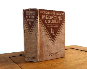 Dictionnaire Illustré De Médecine Usuelle, Dr Galtier Boissière, Larousse Paris,  Medical Book, Medical Graduation Gift, Gift For Doctors