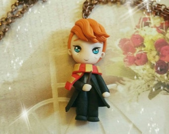 Ron Weasley Harry potter fimo gryffindor grifondoro polimery  Clay necklace  collana