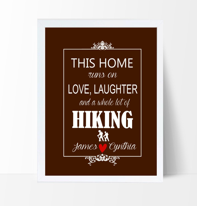 Couples Gift Wedding Gift Hiking Gift Anniversary Gift