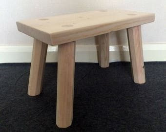 Wooden Foot Stool, Foot Rest, Step Stool, Hand Made