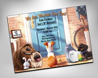 Secret Life of Pets, Birthday Invitation, Birthday, Pets, Birthday Invite, Pets Invitation, Invite, Party