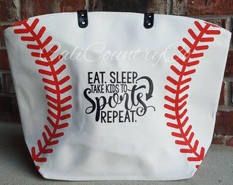 Personalized Baseball Bag, Baseball Mom Bag, Baseball Bag