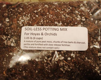 Soil-less Orchid/Hoya Potting Mix 1 lb, use for orchids, hoyas & ephiphytic plants