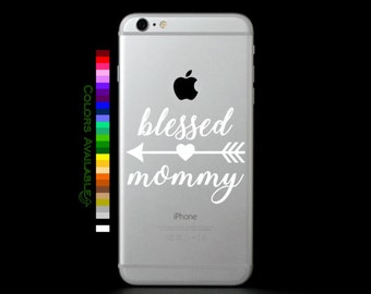 Blessed Mommy Phone Decal