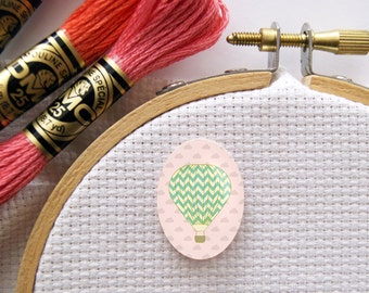Magnetic Hot Air Balloon Needle Minder for Cross Stitch, Embroidery, & Needlecrafts (18mmx25mm with Strong Magnet)