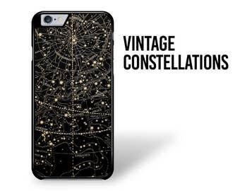 Constellations iPhone Case 7 Constellation iPhone Case 6S Vintage Constellations iPhone 5 SE Stars Night Sky Samsung Galaxy S6 Case S7 Case