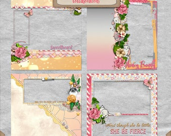 Digital Scrapbooking, Baby Girl Quick Page Set 3: You're My Lil' Girl