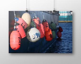 Buoy Decor | Commercial Fishing Art | Boat Photos | Nautical Photography | Nautical Wall Art Decor | Wall Art | Wall Decor | Wall Hanging