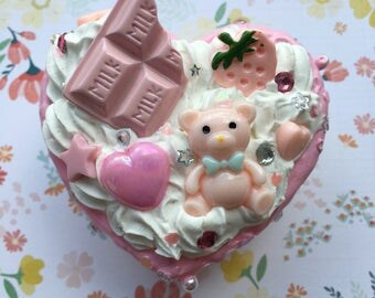 Strawberry Chocolate Bear Decoden Box
