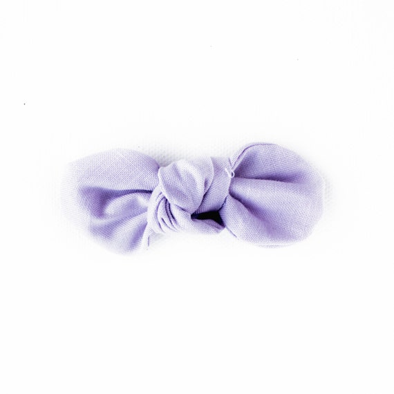 LavenderKnotty Gal Baby Hair Clip : Baby Shower Gift, Infant Headband, Cotton Bow, Pink, Blush, Light Pink, Baby Pink, nylon Headband