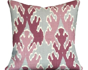 Kelly Wearstler Pink Bengal Bazaar Pillow Cover - Lee Jofa Groundworks - Decorative Pillow - Solid Linen Back - ALL SIZES AVAILABLE