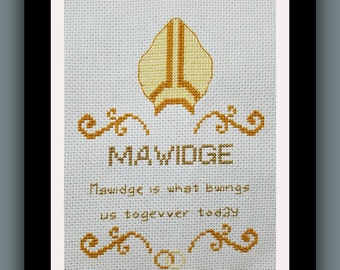 Mawidge Cross Stitch Pattern from Princess Bride. Easy pattern good for beginners.