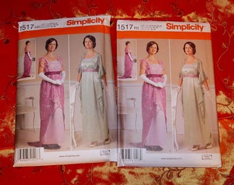 titanic downton abbey edwardian dress sewing pattern NEW Uncut Simplicity S1517 size 6-14 or 14-22 UK seller