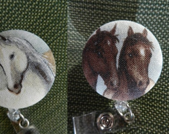 Horse Badge Reel~Farm animal~ Retractable badge reel~ID Holder
