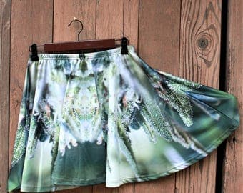 Cannabis Skirt, Womens Running Skirt, Clubwear for Women, Marijuanna Clothing, Festival Skirt, Womens Fairy Skirt, Womens Short Skirt