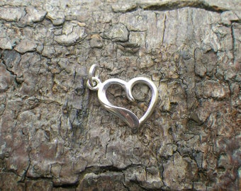 Sterling Silver Heart Necklace Pendant Charm