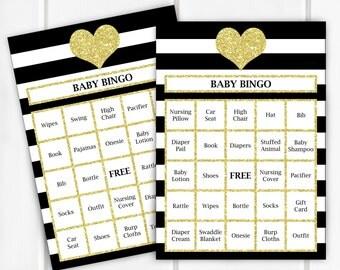 Baby Bingo, Baby Shower Game, Item 260, Item 261