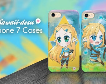 Breath of the Wild Link and Zelda iPhone 7 case
