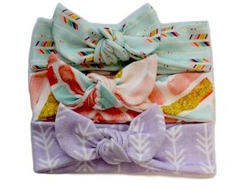 Pick 3 Knot Headbands - Knotted Headband Set (Choose Any 3) - Baby Headwraps - Baby Headband Set