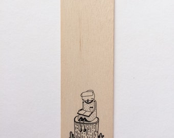 Cactus Book Mark | Reading Girl Book Accessory | Reading Wooden Marker