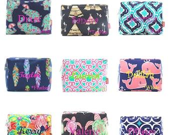 Monogram Cosmetic Bag  Monogram Makeup Bag  Personalized Makeup Bag  Pencil Case  Bridesmaid Gift  Monogrammed Makeup Bag