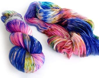 Sock Yarn Superwash Merino/Nylon 85/15 4ply Handdyed Yarn: FLY MY KITE