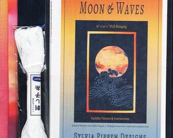 Sashiko Kit - Sylvia Pippen - Moon & Waves Kit