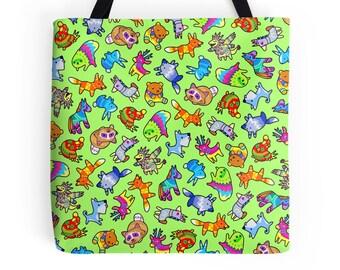 Viva Piñata Pattern ~ Rare ~ Polyester Premium Tote Bag