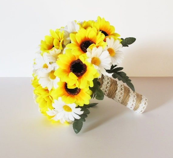 Super bouquet margherite sposa to46 pineglen - Centrotavola girasoli ...