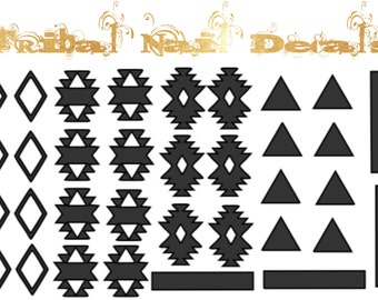 Tribal Aztec Nail Decals