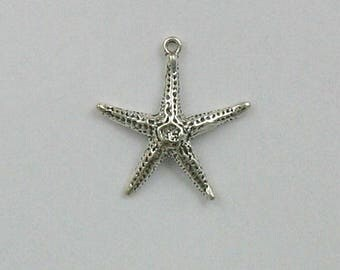 Sterling Silver 3-D Starfish Charm