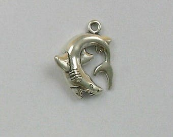 Sterling Silver Great White Shark Charm