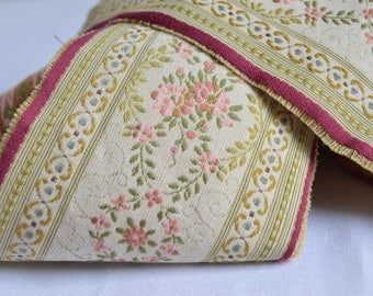 4 inch wide Vintage woven French passementerie braid, 1960s