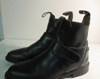 Mens Black Leather Ankle Boots MADE In IRELAND By 'Tredstep' - Euro 42, UK 7.5