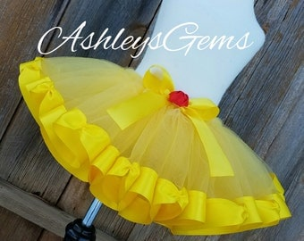 Belle Tutu, Belle Costume Toddler, Belle Dress, Beauty and the Beast Party, Princess Belle Dress, Princess Belle Costume, Belle Costume Kids